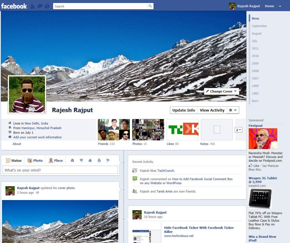 facebook-timeline-page