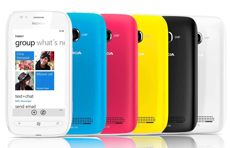 Lumia 710 színkollekció