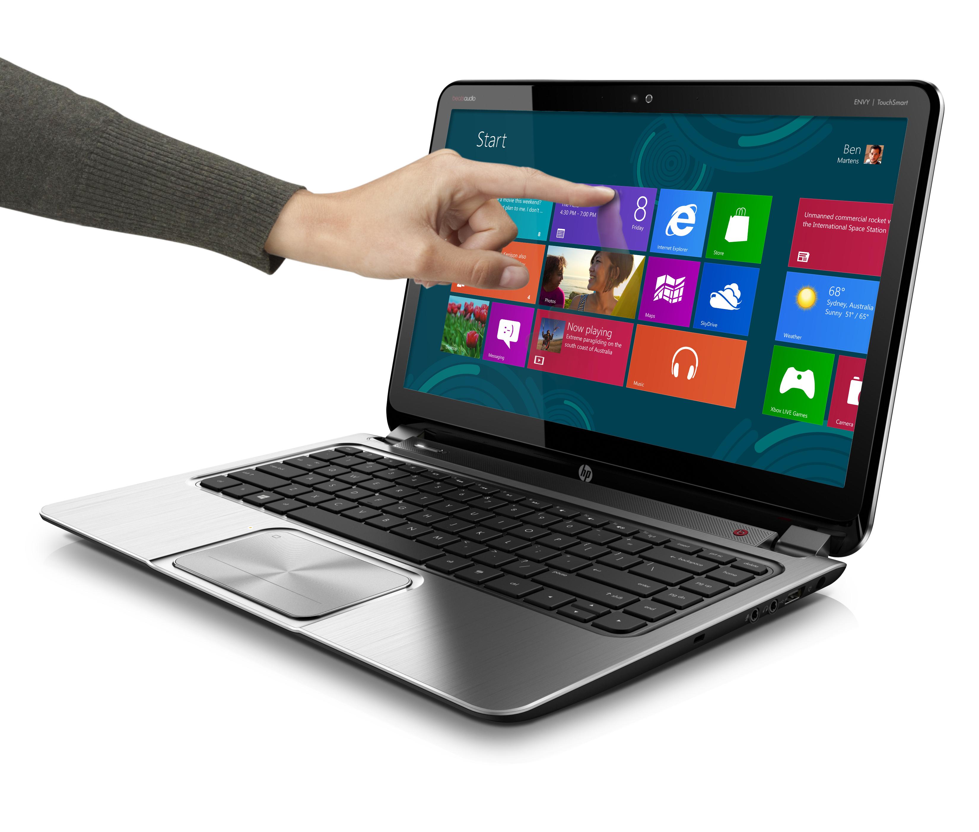 HP ENVY TouchSmart Ultrabook 4_Win8 screen