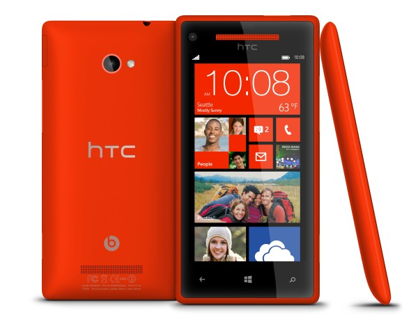 WP 8X by HTC Flame Red 3views