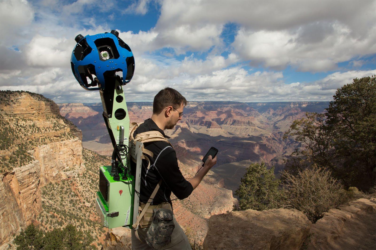 Trekker with Phone
