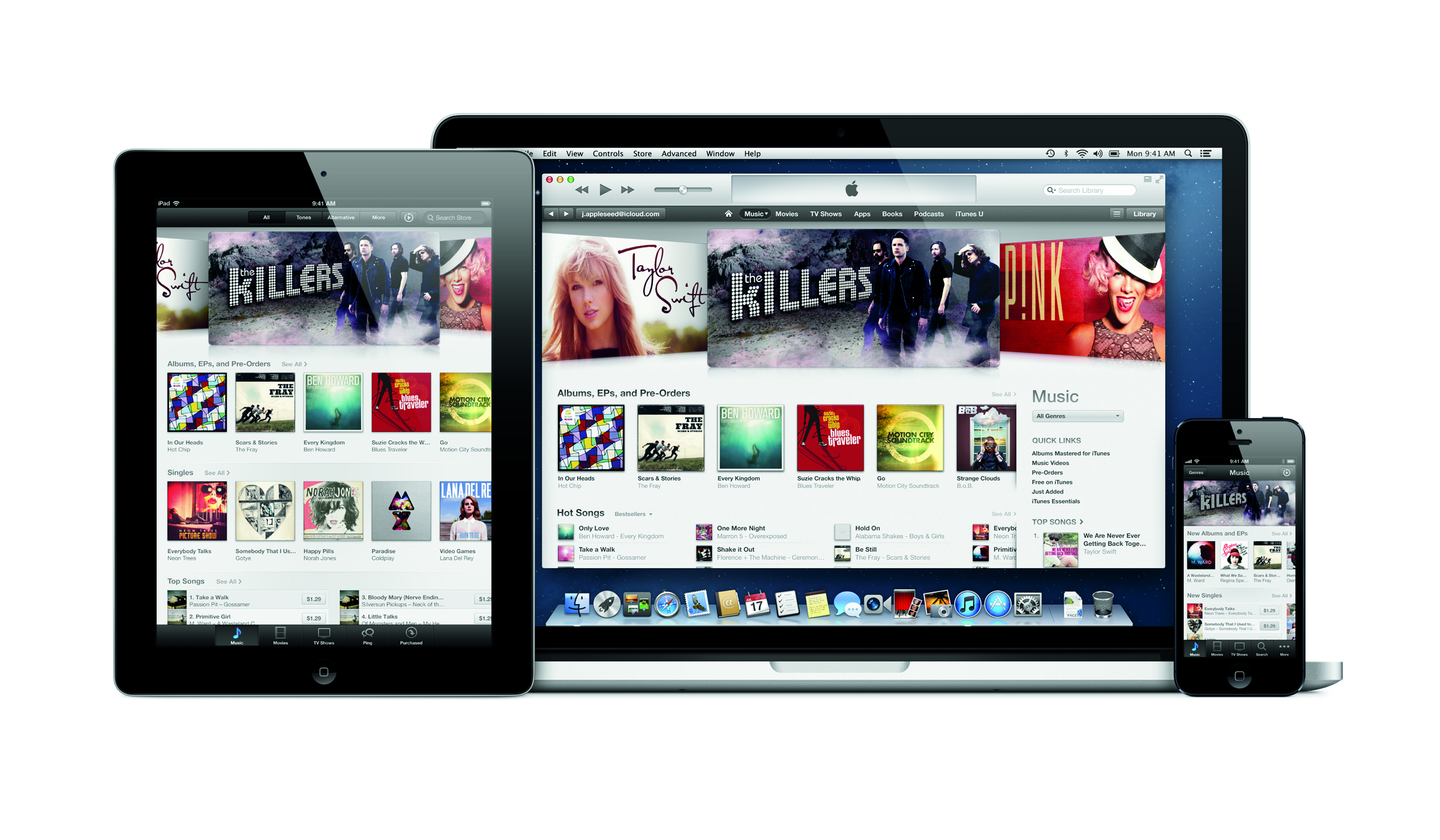 ipad iphone 5 itunes
