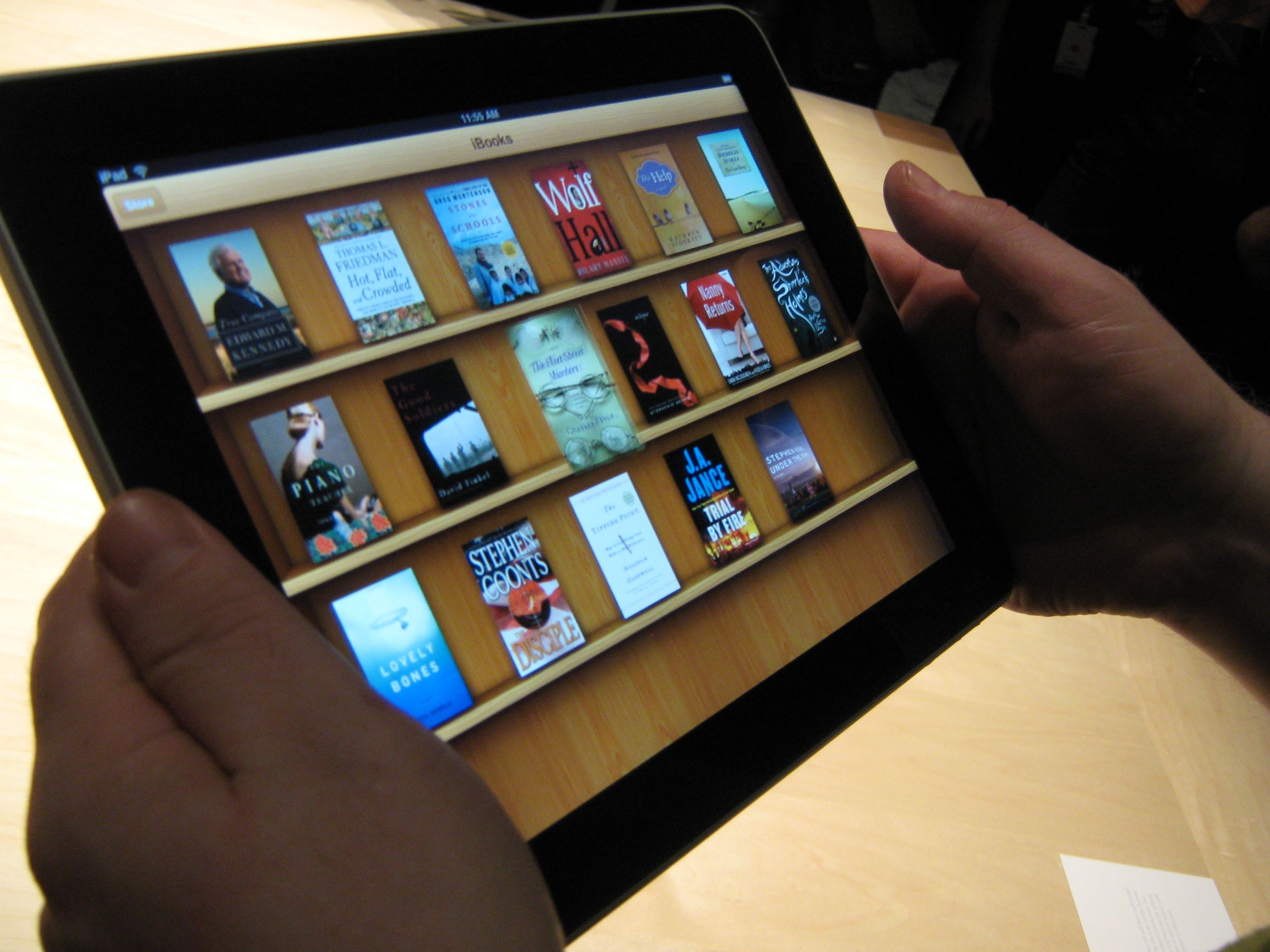 iBooks Bookshelf on iPad