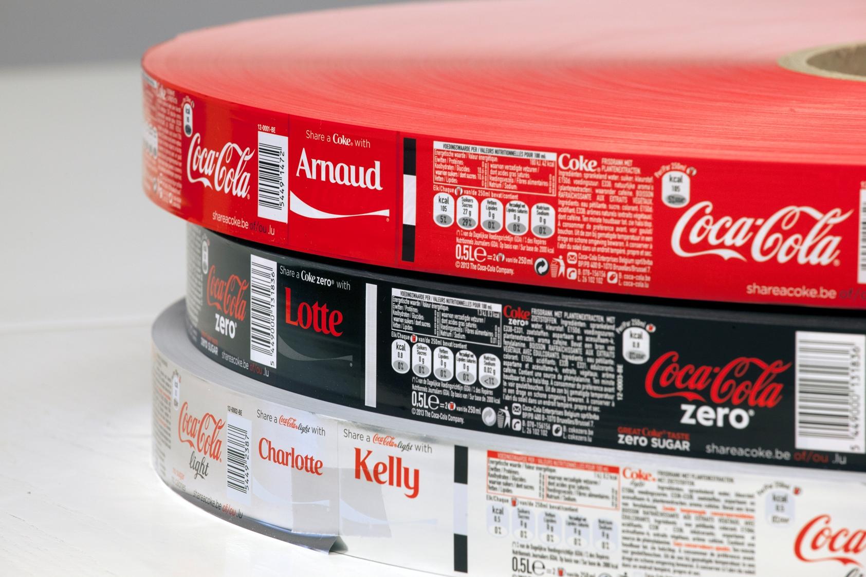 coca-cola címke