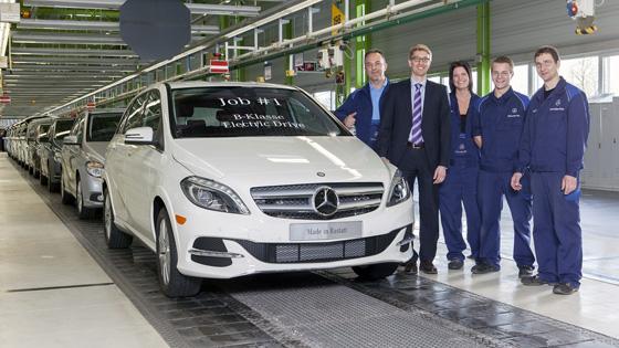 Produktionsstart B-Klasse Electric Drive in Rastatt