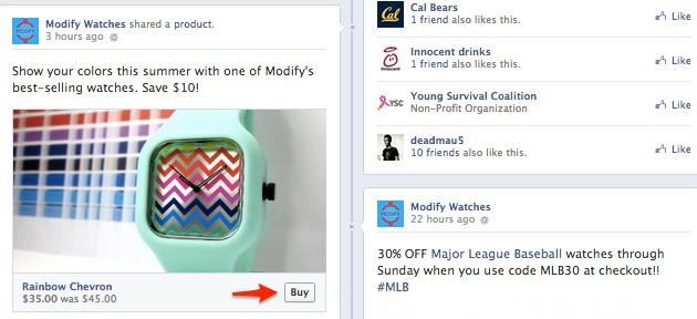 Buy gomb érekezett a Facebookra