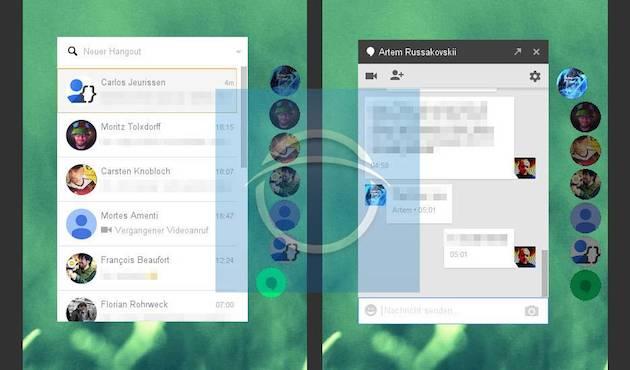 A Hangouts a Messengerből merített inspirációt