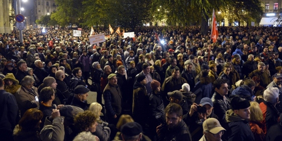 internetadó tüntetés