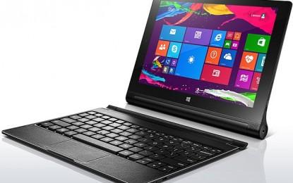 Íme a Lenovo laptop méretű Yoga tablete