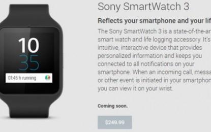 Felkerült a Play Store-ba a Sony SmartWatch 3