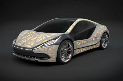 Ez a jövő? Itt a bőrrel borított autó