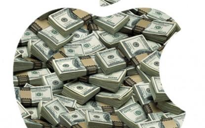 Az Apple továbbra is úszik a pénzben