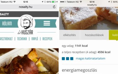 Már mobilon is megtalálhatod a legjobb recepteket a NoSalty-val