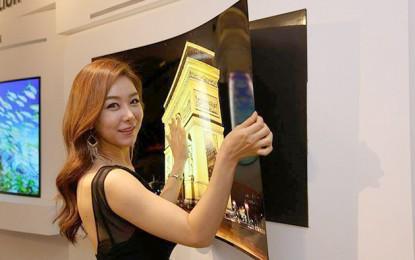 Papírvékony az LG új OLED tévéje