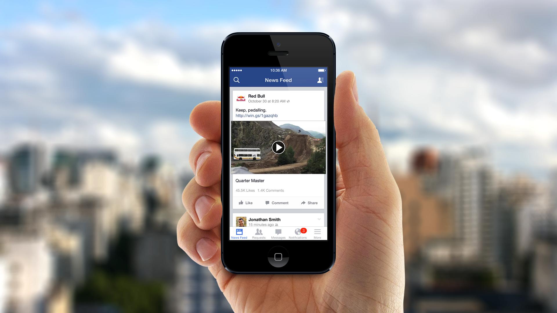 Figyeli a lopott videókat a Facebook