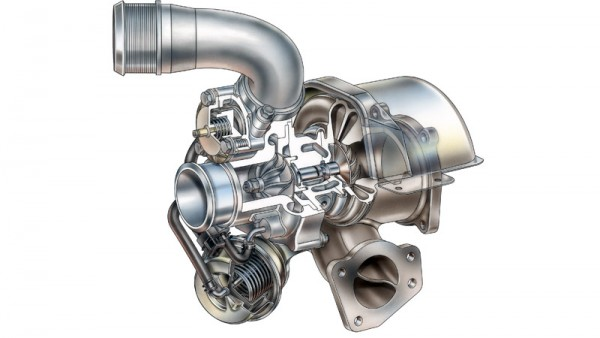 Turbocharger for 2007 Ecotec Turbo 2.0L I-4 (LNF), David Kimble Illustration. X07PT_AR007
