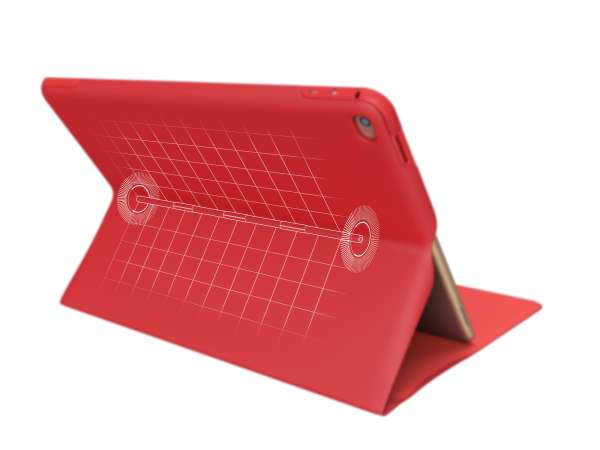 CREATE Any-Angle Case Hinge Red