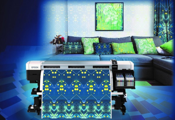 Digital home textiles produced by Epson SureColor inkjet printers at Heimtextil