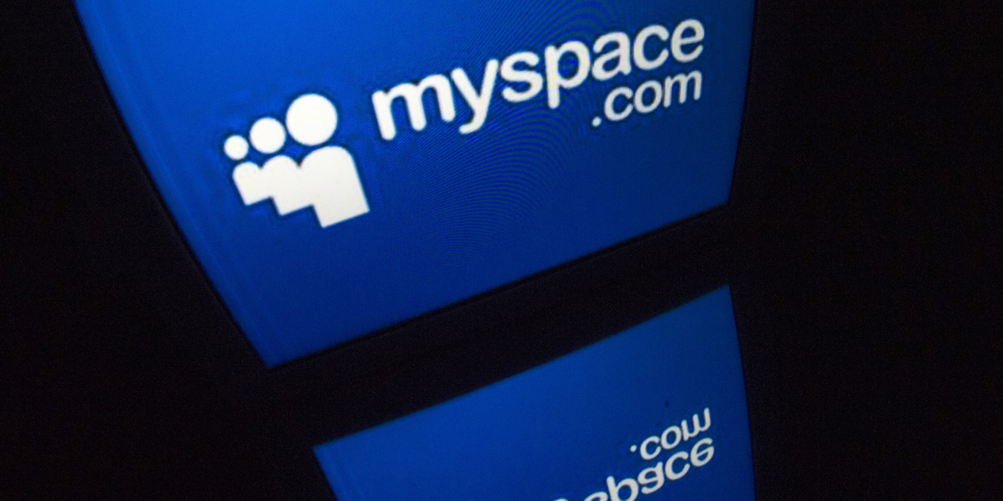 """The """"Myspace"""" logo is seen on a tablet screen on December 4, 2012 in Paris. AFP PHOTO / LIONEL BONAVENTURE        (Photo credit should read LIONEL BONAVENTURE/AFP/Getty Images)"""
