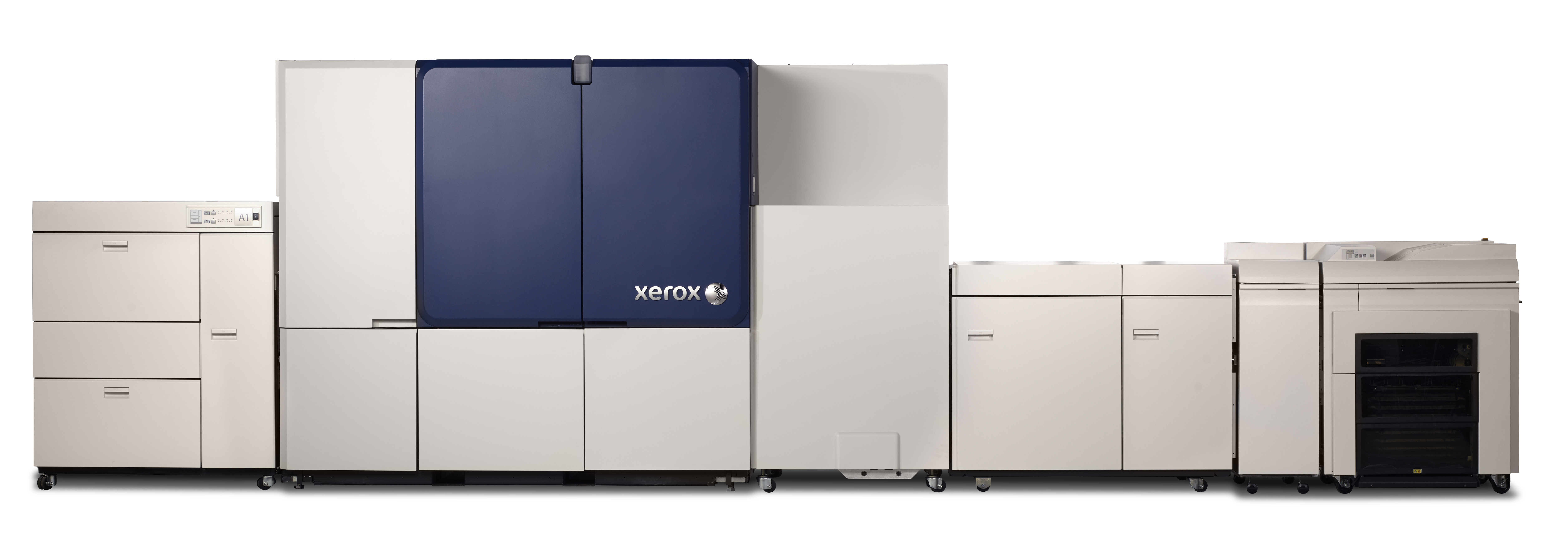 The Xerox Brenva HD Production Inkjet Press is Xerox's first cut-sheet inkjet press. The press addresses the needs of the transactional, light direct mail and book markets, and offers best-in-class automation and reliability features to maximize press productivity.