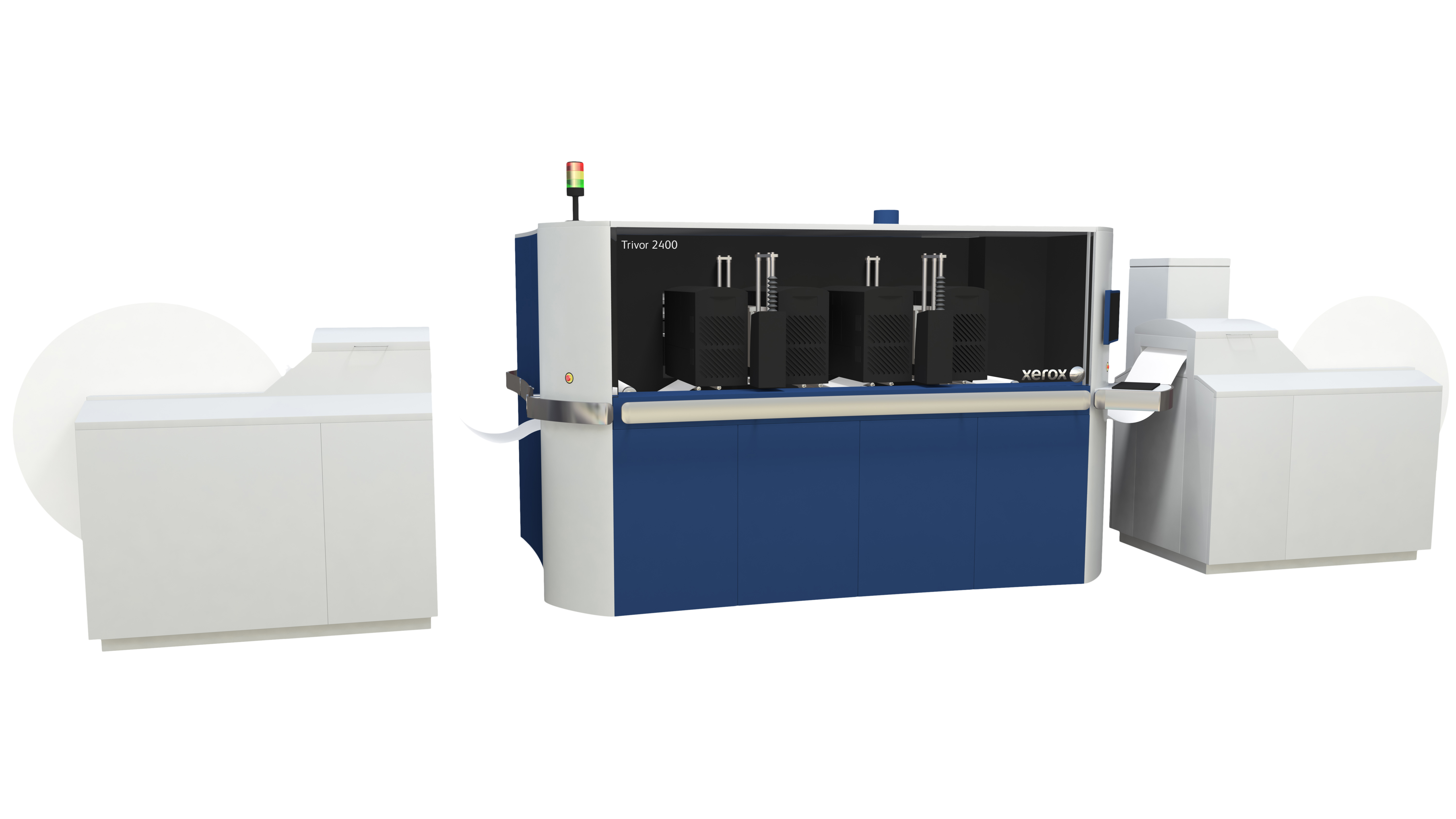 The Xerox Trivor 2400 Inkjet Press is a new high-speed, continuous feed inkjet press. The press enables printers to grow and upgrade capacity with ease and offers the speed, image quality and automation capabilities needed for growth in key application segments. A new print server developed in partnership with EFI, the Xerox IJ Print Server powered by Fiery, will handle multiple data streams for various application types.