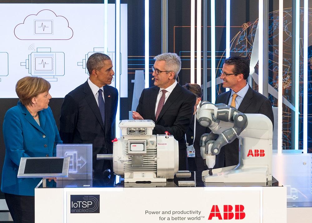 ABB_Merkel-Obama-Spiesshofer-Scheu