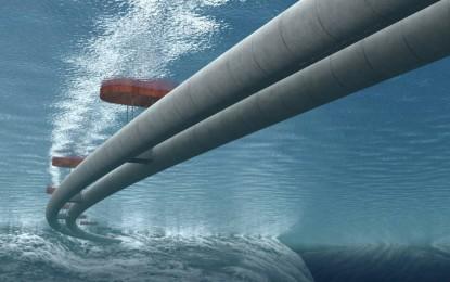 Víz alatt lebegő alagutakkal csökkentenék a kompforgalmat Norvégiában