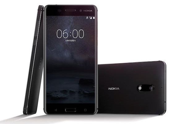 A new Nokia 6 smartphone is seen in this handout image released by HMD to Reuters on January 7, 2017. HMD/Handout via Reuters ATTENTION EDITORS - THIS IMAGE WAS PROVIDED BY A THIRD PARTY. EDITORIAL USE ONLY. NO RESALES. NO ARCHIVE.