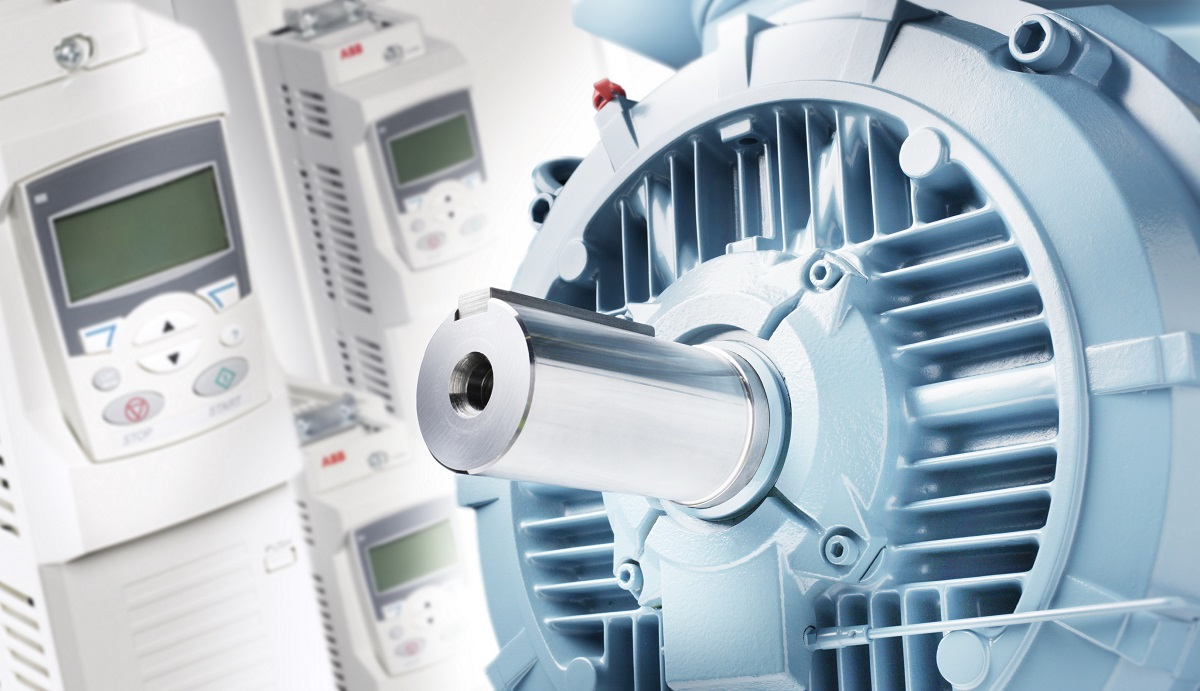 Close-up photo of synchronous reluctace motor and drive package