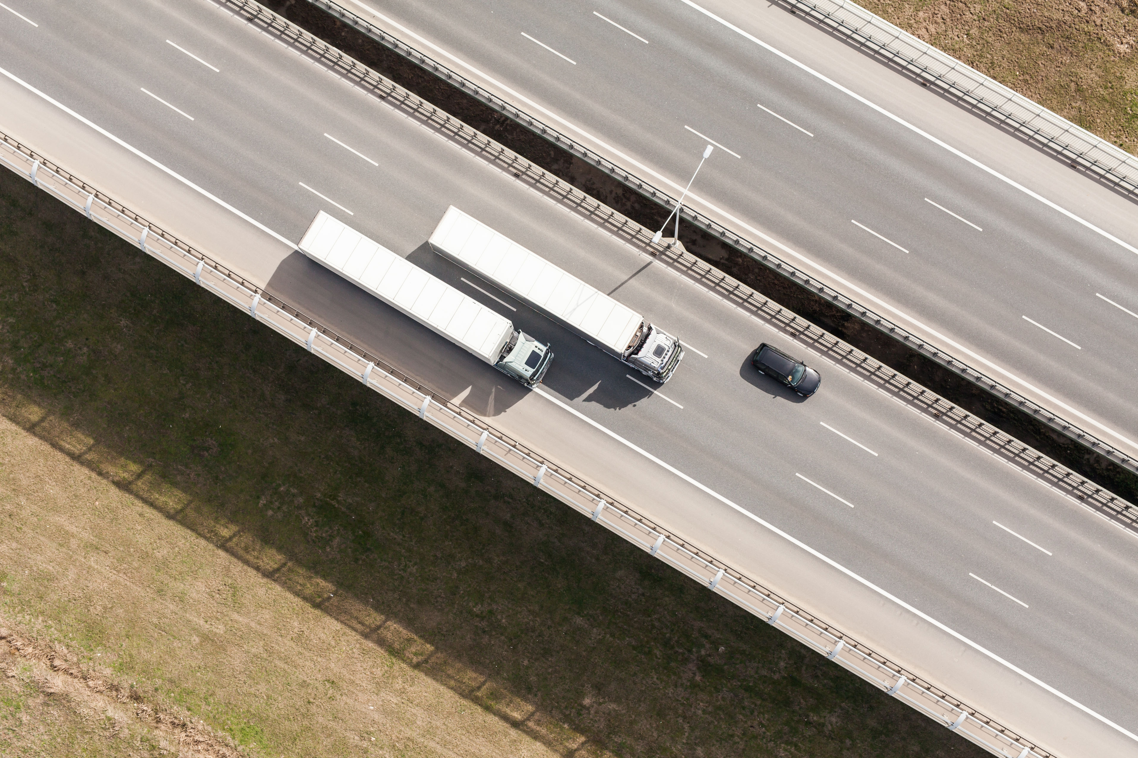 55864771 - aerial view of highway in poland