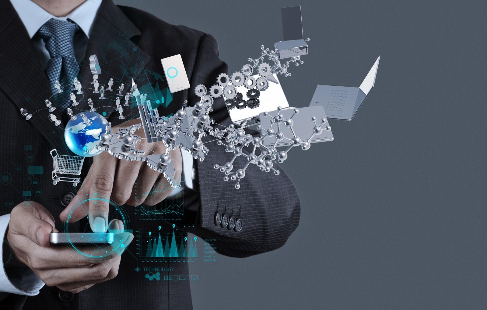 businessman-shows-modern-technology