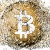 84338242 - bitcoin explosion disintegration