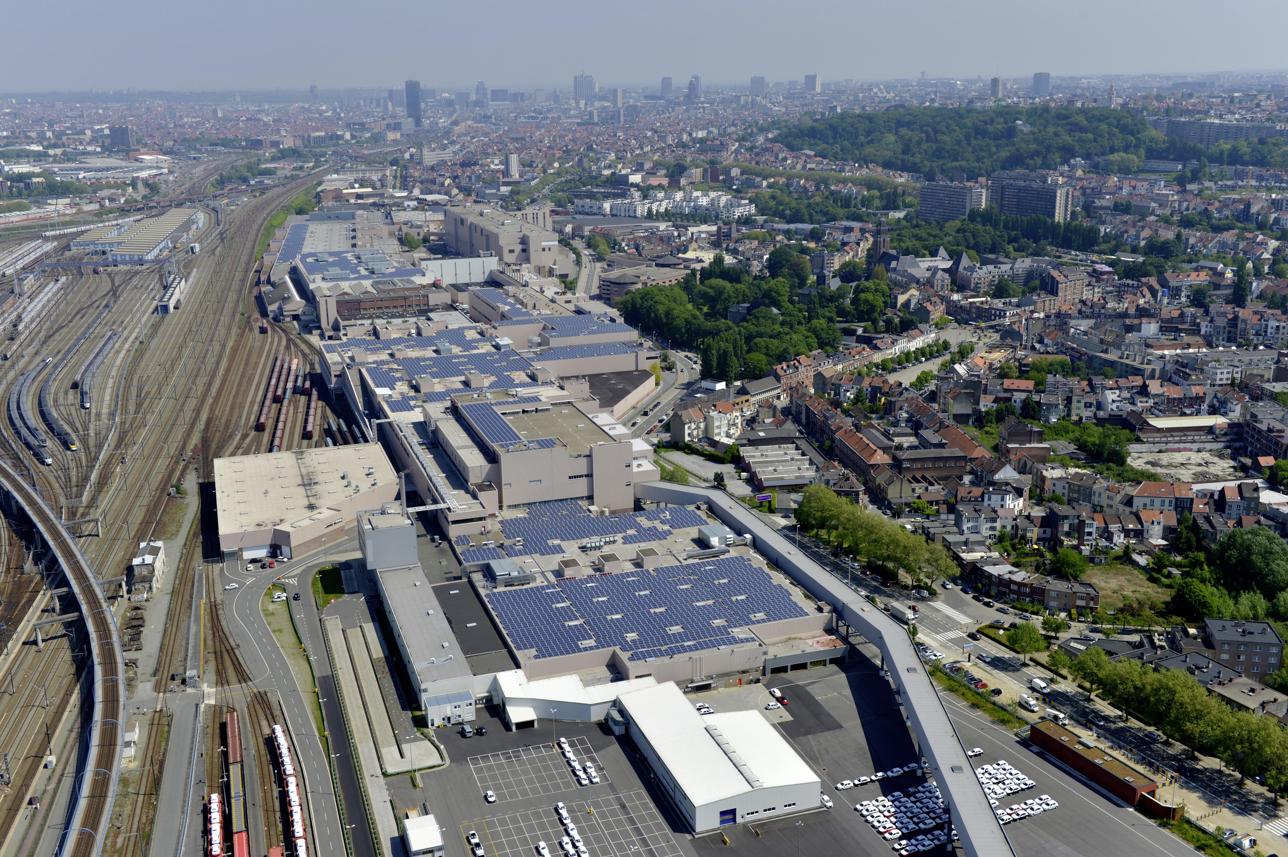 Aerial View Audi Site Brussels, Belgium