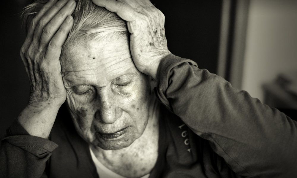 Old woman with Alzheimer