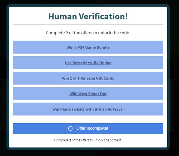 Ahhoz, hogy megkapjuk a kedvezményre jogosító kódot, különböző feladatokkal kell bizonyítanunk, hogy nem vagyunk robotok