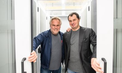 ZURICH, SWITZERLAND - NOVEMBER 13: Eugene Kaspersky, CEO at Kaspersky Lab and Alexander Moiseev, CBO at Kaspersky Lab are seen at Interxion Data Center. Kaspersky Lab starts data processing for European users in Zurich November 13th, Zurich, Switzerland. For info: https://www.kaspersky.com/transparency-center
