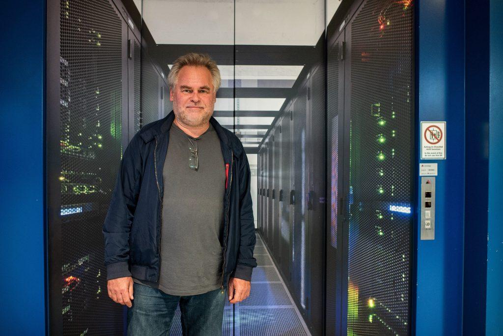 ZURICH, SWITZERLAND - NOVEMBER 13: Eugene Kaspersky, CEO at Kaspersky Lab, is seen at Interxion Data Center. Kaspersky Lab starts data processing for European users in Zurich November 13th, Zurich, Switzerland. For info: https://www.kaspersky.com/transparency-center