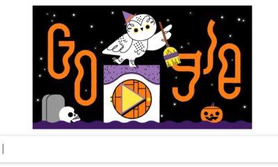 Google doodle halloween 2019