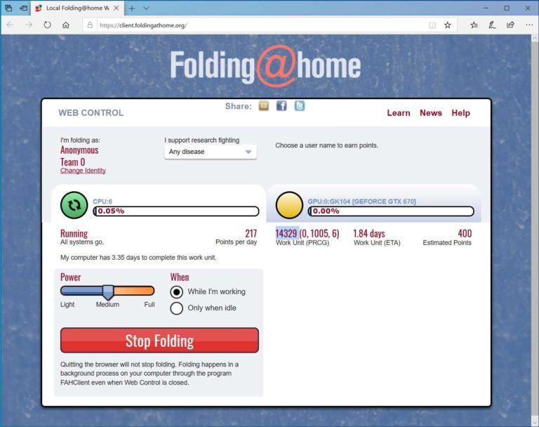 folding home