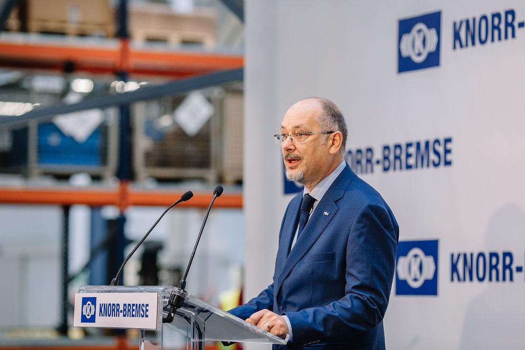Veres László, a Knorr-Bremse Budapest ügyvezető igazgatója